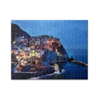 Cinque Terre Italy by Night Puzzle