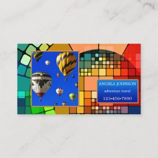 Eye catching photo template colorful business card