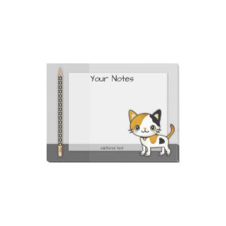 Cute kitty pencil personalized post it notes