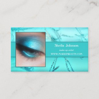 Turquoise Your Photo Business Card Template