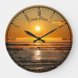 Classic Beach Sunset Personalized Wall Clock