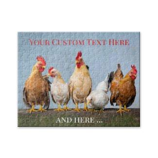 Cute personalized chicken farm animals puzzle