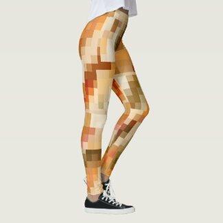 Elegant checkered abstract design autumn leggings