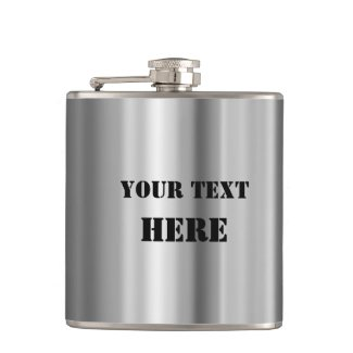 Tin roof inspired metallic design personalized flask - personalized gifts for him