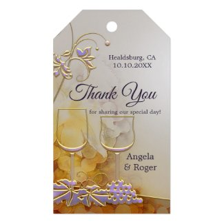 Elegant Wine Themed Wedding Favor Gift Tag