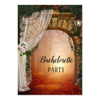 Enchanted Forest Bachelorette Party Invitation