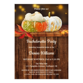 Pumpkin autumn bachelorette party invitation