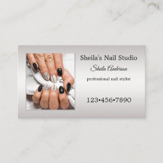 Professional Nail Studio Photo Appointment Business Card