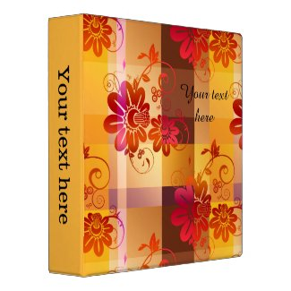 Floral Geometric Personalized Binder