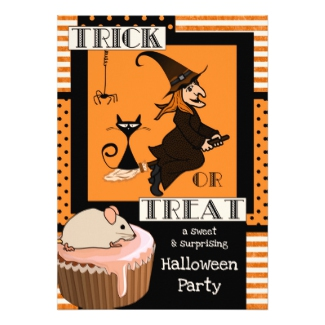 Trick or Treat Kids Halloween Invitation