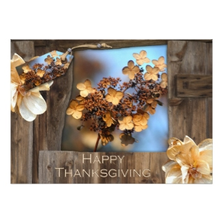 Rustic Thanksgiving Invitation