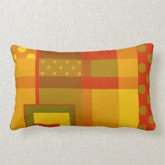 Geometric design artistic pillow