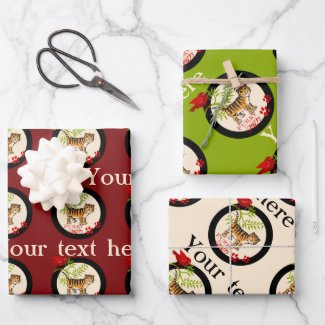 Cute kitty personalized gift wrapping paper