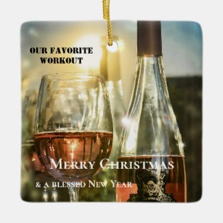 Funny Rosé Wine Lovers Personalized Ornament