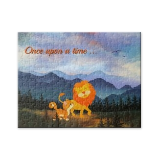 Lion and kitty fantasy landscape fairy tale puzzle