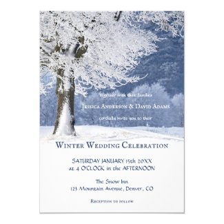 Magical Winter Wonderland Wedding Invitation