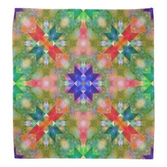 Watercolor geometric design Christmas pattern bandana