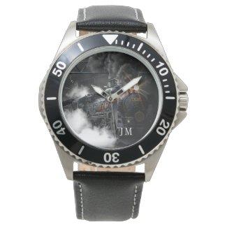 personalized steam locomotive train watch