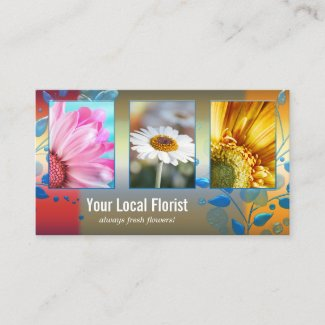 Your 4 photos template floral business card