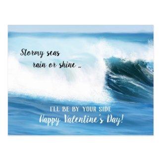 Ocean Waves Valentine's Day Card