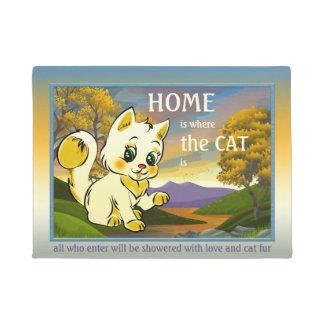 personalized cute kitty funny cat doormat