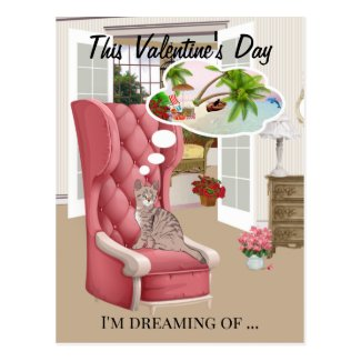 Cute kitty Valentine's Day Photo Greeting Card