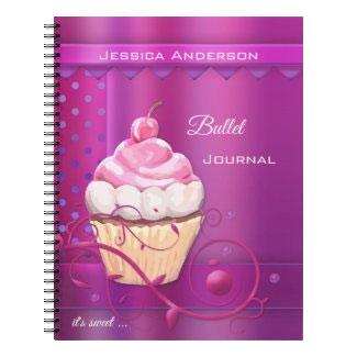 Purple Pink Cupcake Bullet Journal