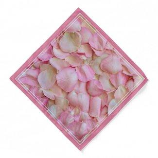 Rose petals romantic pink love bandana
