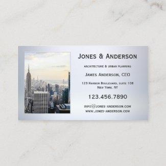 Four photos metallic portfolio business card