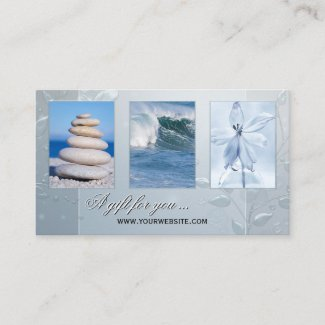 Spa or wellness photo template gift certificate card