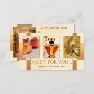Luxury gifts your photos gift card template business card