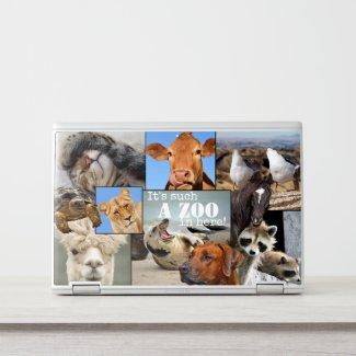 Funny animals zoo laptop skin
