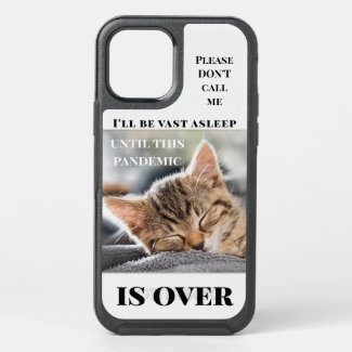 Funny cute kitty photo quarantine phone case - personalized gifts