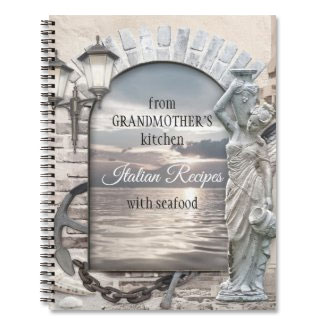 Italian nautical seafood recipe notebook - Mother's Day Gifts