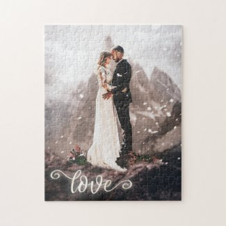 Your wedding photo personalized love script puzzle