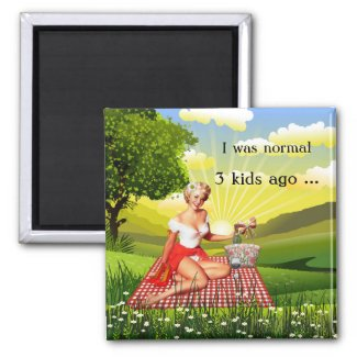 Funny retro pin-up mother's day magnet