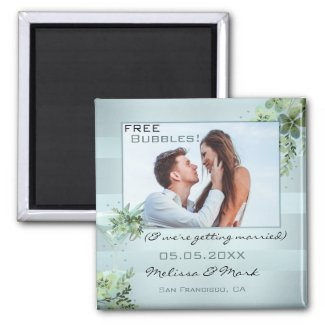 Your photo Save the Date personalized magnets