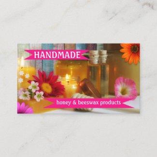 colorful handmade honey beeswax business card