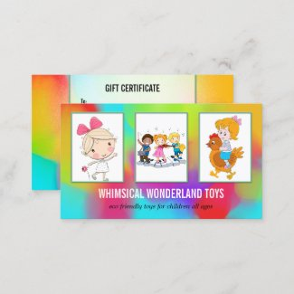 your photos colorful toy store gift card