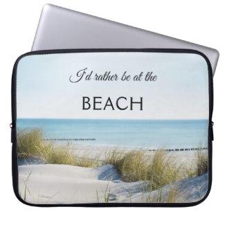 Summer beach and dunes laptop sleeve