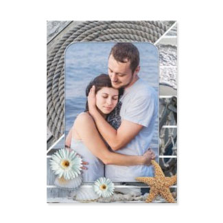 Your photo nautical beach Save the Date card