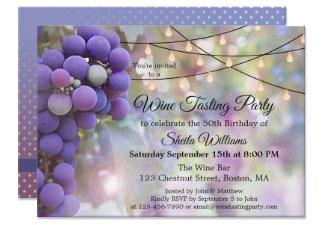 Festive String Lights Wine Tasting Party Invitation