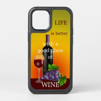 Red wine lover personalized phone case