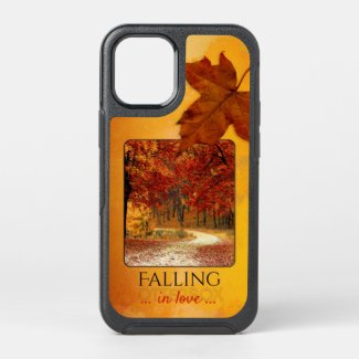 Your photo personalized phone case autumn leaves