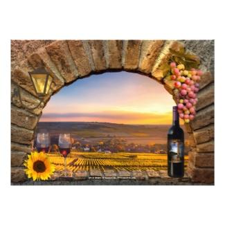 Wine themed vineyard or winery bachelorette invitation