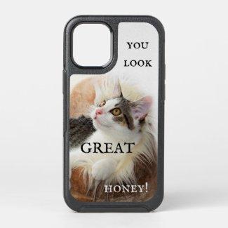 Cute funny cat personalized phone case