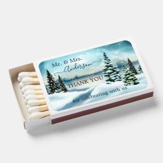 Winter wonderland personalized matchboxes