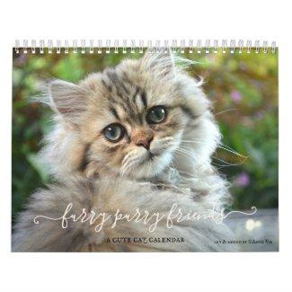 Cute furry purry cat lover calendar